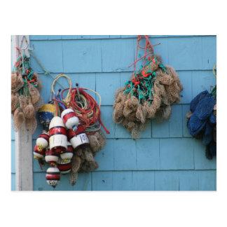 Lobster Buoys & Bait Bags Postcard