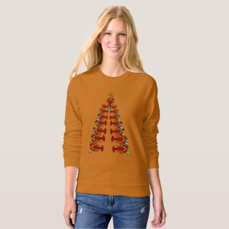 Lobster Christmas tree cute party ugly shirt
