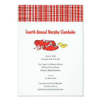 Lobster Clambake Summer Cookout Card