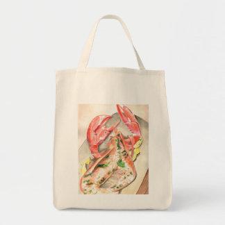 Lobster Coastal Living Shopping Organic Tote