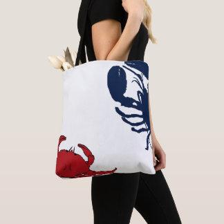 Lobster Crab Big Design Red White Blue Bag