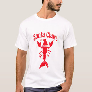 Lobster Crayfish Santa Claws T-Shirt