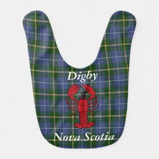 Lobster feast bib Digby Nova Scotia Tartan