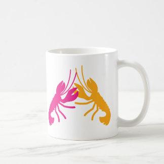 lobster fight coffee mug