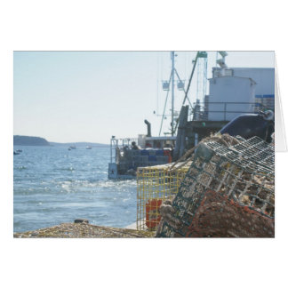 Lobster Fishing in Bar Harbor Card