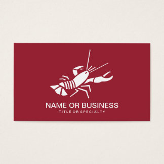 lobster icon business card