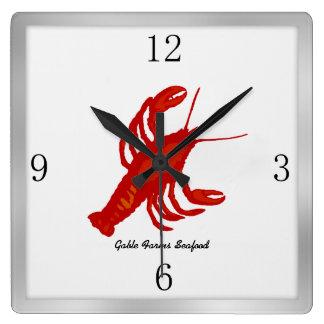 Lobster Image Custom Restaurant Wall Clock