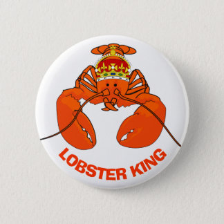 Lobster King 2 Inch Round Button