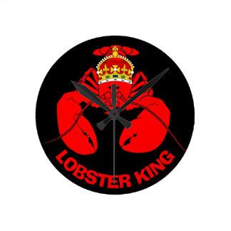 Lobster King Round Clock