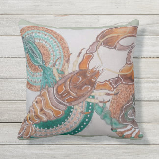 Lobster love throw pillow