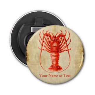 Lobster Lover Vintage Style Magnetic Bottle Opener Button Bottle Opener