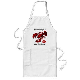 Lobster Lovers Kiss the Cook Apron