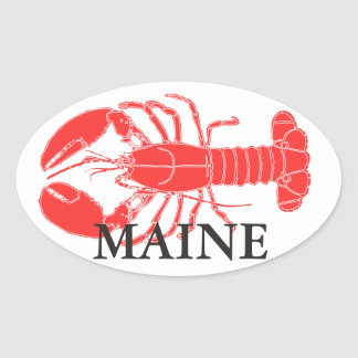 LOBSTER!!! OVAL STICKER