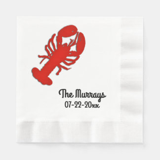 Lobster Personalized Paper Napkins