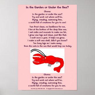 Lobster poem poster