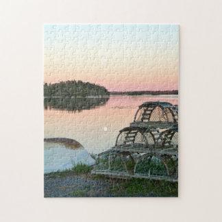 Lobster Pots Nova Scotia. Jigsaw Puzzle