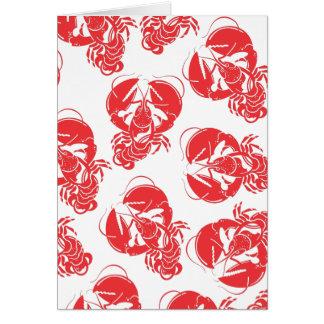 lobster print card
