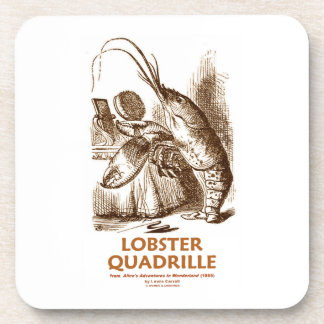 Lobster Quadrille (Brush Mirror Wonderland Humor) Coaster