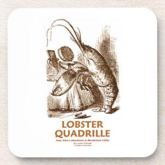Lobster Quadrille (Brush Mirror Wonderland Humor) Drink Coaster