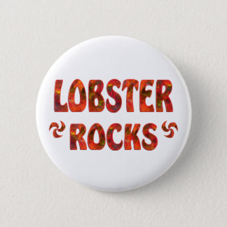 LOBSTER ROCKS 2 INCH ROUND BUTTON