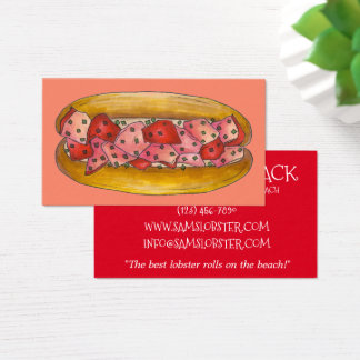 Lobster Roll Sandwich Maine Food Seafood Beach Business Card