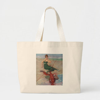 Lobster Serenade Large Tote Bag