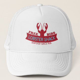 Lobster Shack Fresh Seafood Logo Trucker Hat