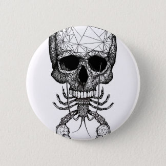 Lobster Skull 2 Inch Round Button
