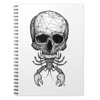 Lobster Skull Notebook