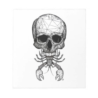 Lobster Skull Notepad