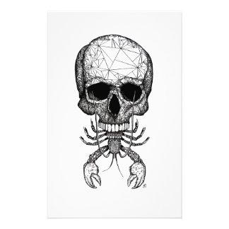 Lobster Skull Stationery