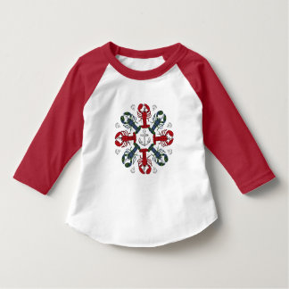 Lobster Snowflake Anchor Christmas toddler shirt