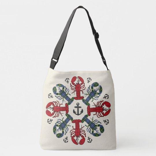 Lobster Snowflake Anchor N.S. Christmas bag