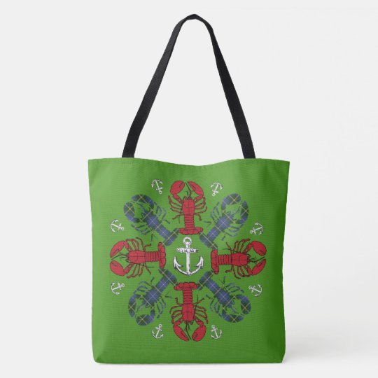 Lobster Snowflake Anchor N.S. Christmas bag