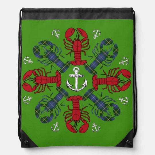 Lobster Snowflake Anchor N.S. Christmas bag Backpacks