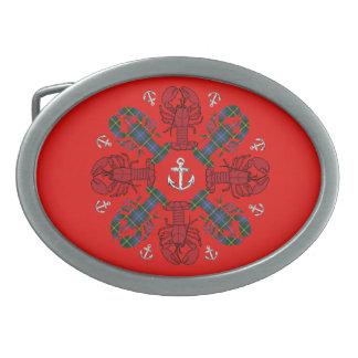 Lobster Snowflake Anchor N.S.Christmas belt buckle