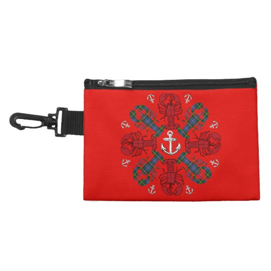 Lobster Snowflake Anchor N.S. Christmas clip on Accessories Bag