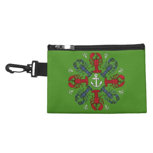 Lobster Snowflake Anchor N.S. Christmas clip on Accessories Bags