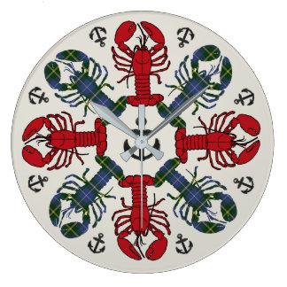 Lobster Snowflake Anchor N.S. Christmas clock