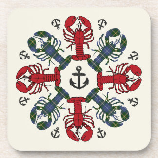 Lobster Snowflake Anchor N.S.Christmas coaster set