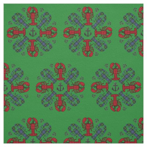 Lobster Snowflake Anchor N.S. Christmas fabric