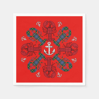 Lobster Snowflake Anchor N.S. Christmas napkins Paper Napkins