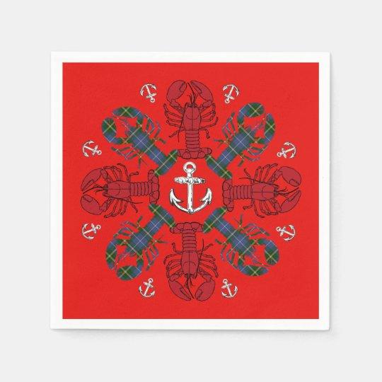 Lobster Snowflake Anchor N.S. Christmas napkins Paper Napkins