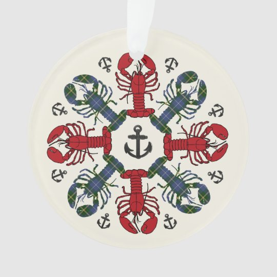 Lobster Snowflake Anchor N.S. Christmas ornament