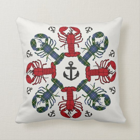 Lobster Snowflake Anchor N.S. Christmas pillow