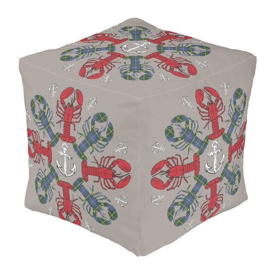 Lobster Snowflake Anchor N.S. Christmas pouf