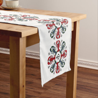Lobster Snowflake Anchor N.S. Christmas runner