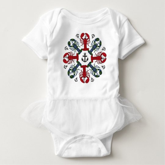 Lobster Snowflake Anchor N.S.Christmas shirt tutu