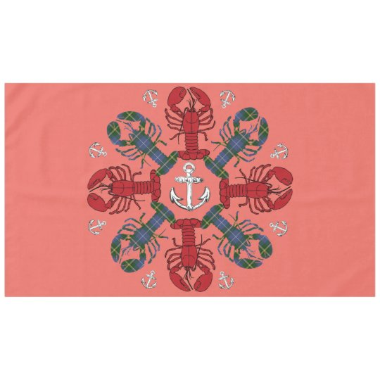 Lobster Snowflake Anchor N.S. Christmas tablecloth