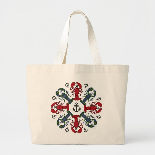 Lobster Snowflake Anchor N.S. Christmas tote bag